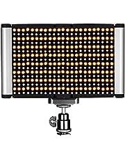 Neewer Illuminazione video LED-Pannello LED Dimmerabile da 2 Colori con Standard Coldshoe PER DSLR Fotocamera, 280 Bulbi LED, 3200-5600K, (CRI) 95+ (Batteria non inclusa)