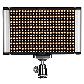 Neewer LED Video Light - Dimmable Bi-Color LED Panel with Standard Cold Shoe for DSLR Cameras,280 LED Beads,3200-5600K,CRI 95+ (Battery NOT Included) (B01N8W56YL) | Amazon Products