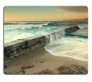 Big Waves Nature Flowing Ocean Mouse Pads Customized Made to Order Support Ready 9 7/8 Inch (250mm) X 7 7/8 Inch (200mm) X 1/16 Inch (2mm) High Quality Eco Friendly Cloth with Neoprene Rubber Luxlady Mouse Pad Desktop Mousepad Laptop Mousepads Comfortable Computer Mouse Mat Cute Gaming Mouse pad