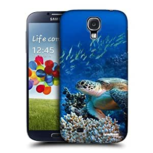 AIYAYA Samsung Case Designs Sea Turtle Sitting On Coral Reef Wildlife Protective Snap-on Hard Back Case Cover for Samsung Galaxy S4 I9500