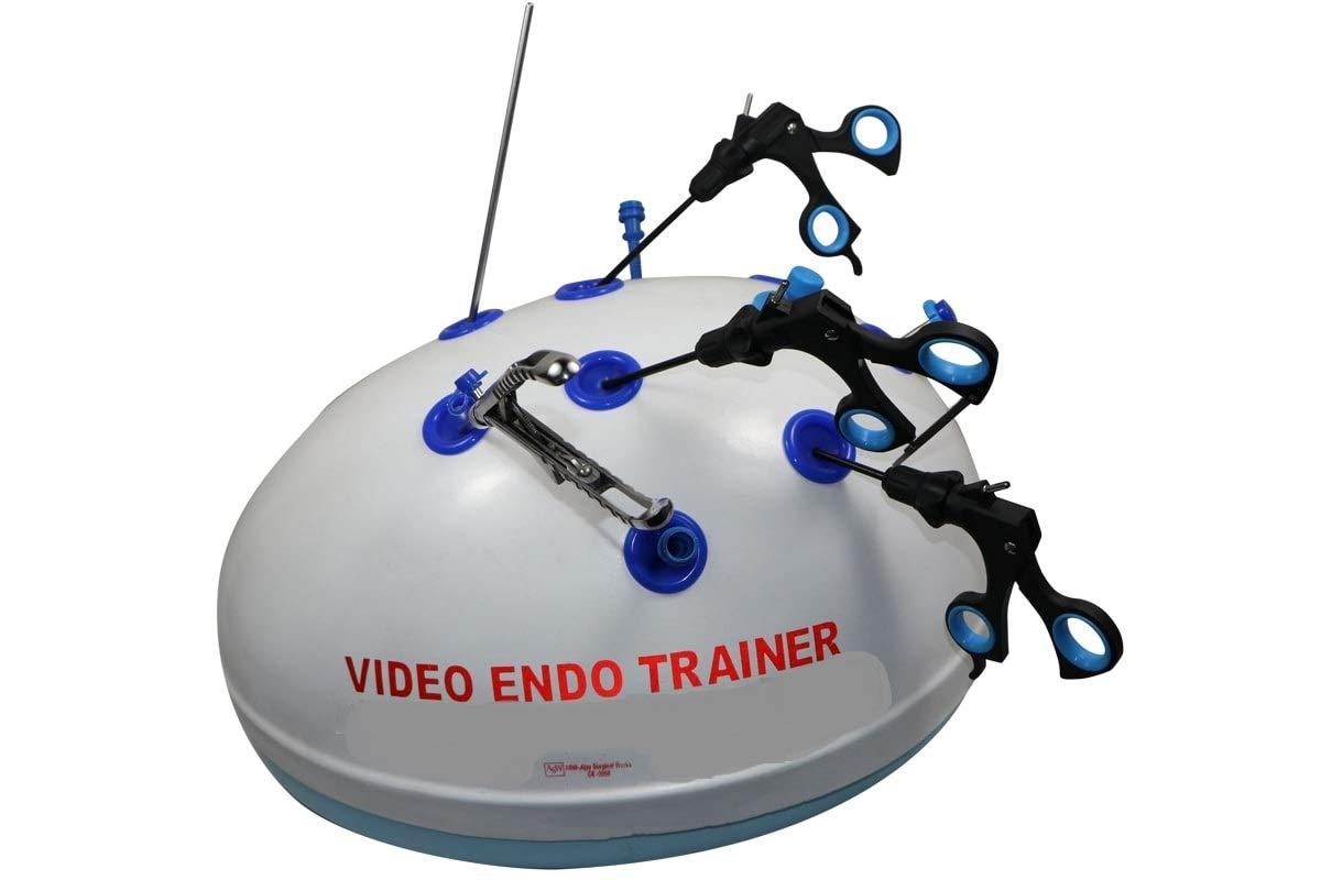 Laparoscopic Endo Trainer Simulator Training Practice Box All Forceps Instruments Set