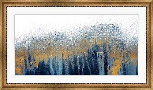 The Woods by Roberto Gonzalez Framed Art Print Wall Picture, Wide Gold Frame, 44 x 26 inches ()