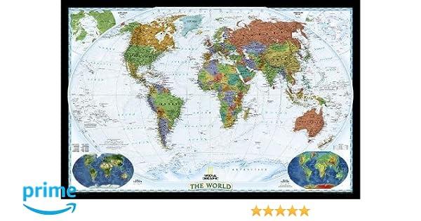 World decorator laminated national geographic reference map world decorator laminated national geographic reference map national geographic maps 9780792283096 books amazon publicscrutiny Images