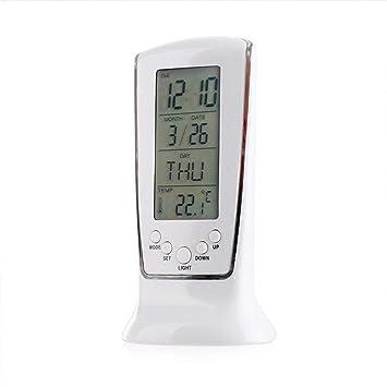 Despertador LITING_Wang Luminoso Electrónico Pequeño Personalidad Estudiante Creativo Mini Reloj Digital Mudo Reloj Reloj de Mesa: Amazon.es: Hogar