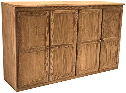 Oak Veneer Door - Kelby Dry Oak Veneer 4-Door Multi Storage Cabinet