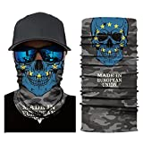 Motorcycle Mask,Winter Skull Neck Tube Ski Balaclava Running Scarf Bandana Mask Zulmaliu