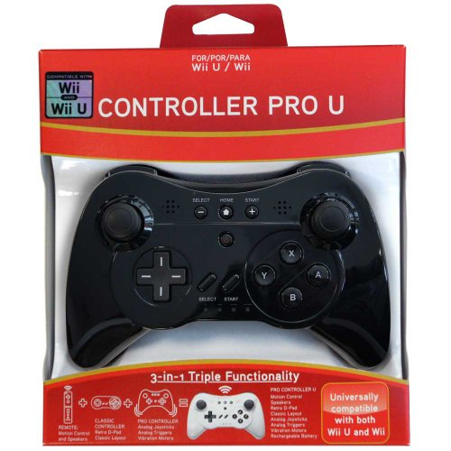 Pro Controller U for Wii and Wii U – Black