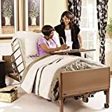 Full Electric Hospital Bed Package (Invacare Full Electric Home Hospital Bed Package w/Foam Mattress, Half Rail Set)