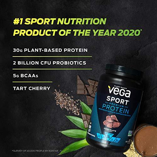 Vega Sport Premium Protein Powder, Vanilla, Plant Based Protein Powder Post Workout - Certified Vegan, Vegetarian, Keto-Friendly, Gluten Free, Dairy Free, BCAA Amino Acid (45 Servings / 4lbs 1.8oz)