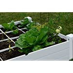 """Vita Gardens VT17104 Vita Bed with GRO 48in x 7.5in Garden with Grid, 7.38"""" H, White 6 Available in classic white Can combine more than one unit Grid system increases yield because plants can be planted closer together"""