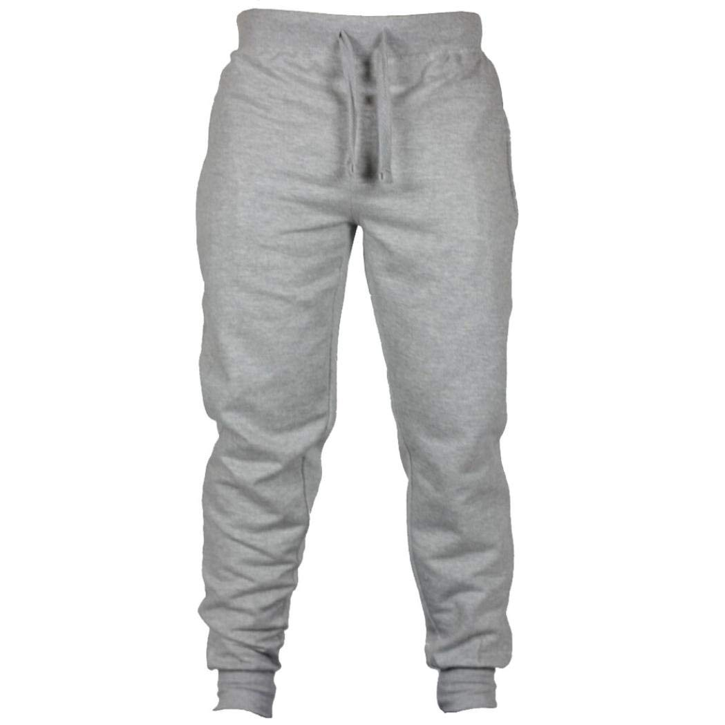 Muranba Clearance Men's Solid Casual Drawstring Joggers Sweatpants