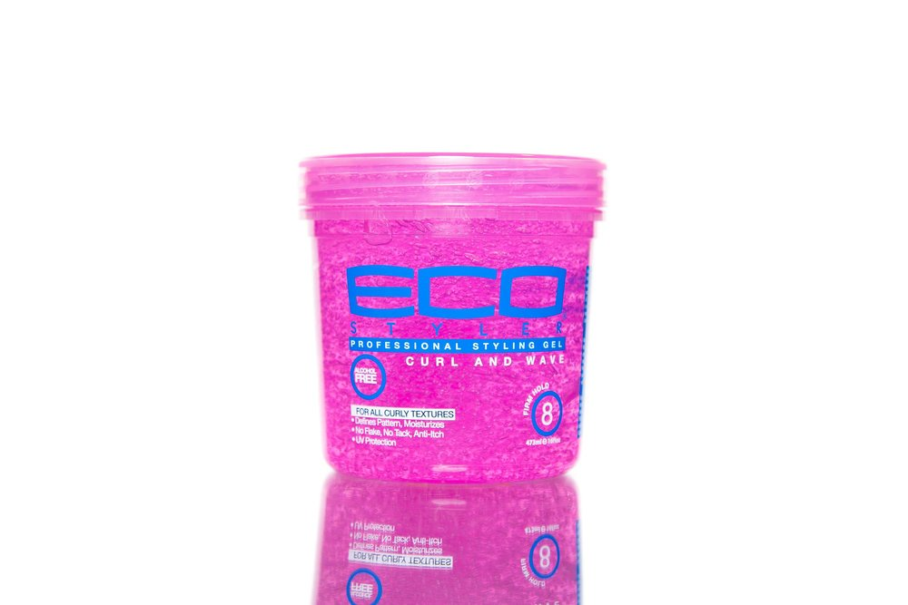(PACK OF 2) ECO STYLE CURL & WAVE GEL FIRM HOLD 8OZ