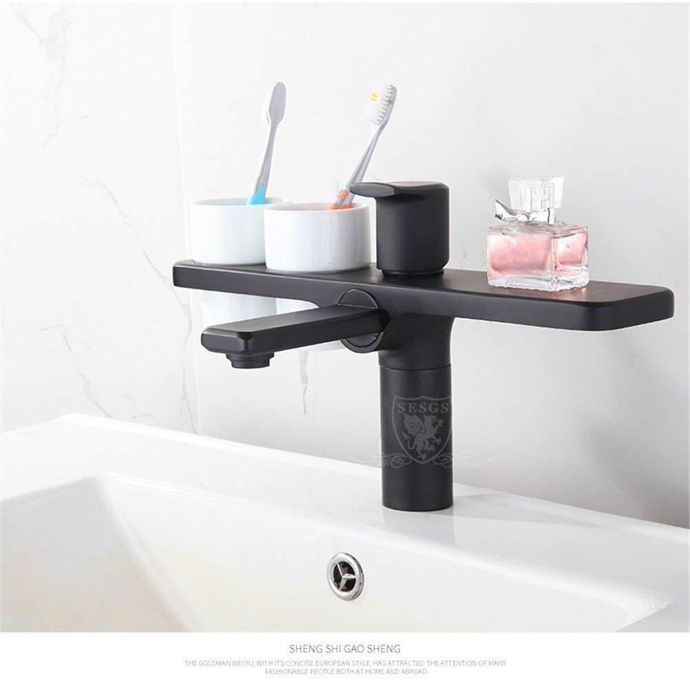 Oudan Antique Copper Faucet Basin Hot and Cold Wash Basin Faucet Hotel Handbasin kitchen bathroom storage (color   -, Size   -)