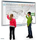 """Smart Tech 77"""" Interactive whiteboard with Projector Bundle for Classroom (Plug and Play)"""