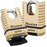 Master Lock 1177D 2-1/4'' Brass ProSeries Shrouded Resettable Combination Padlock