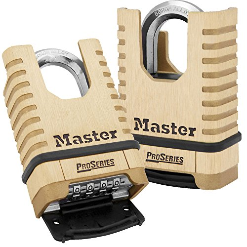Master Lock Padlock, ProSeries Set Your Own Combination Lock, 2-1/4 in. Wide, Brass, ()