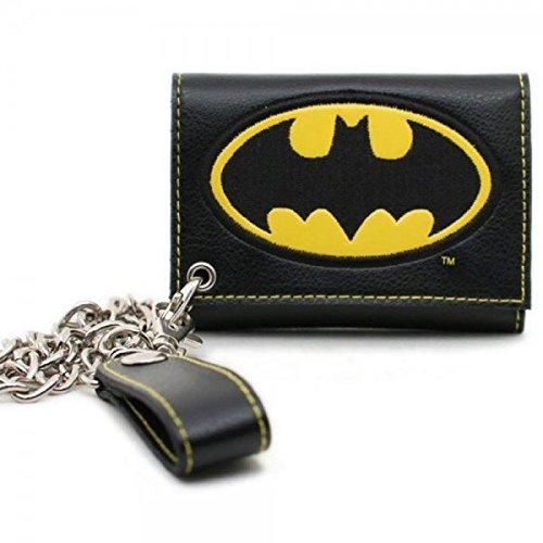 BATMAN LOGO TRI-FOLD WALLET WITH CHAIN - Logo Chain Wallet
