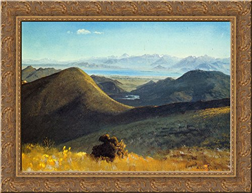 - Mono Lake, Sierra Nevada, California 24x20 Gold Ornate Wood Framed Canvas Art by Bierstadt, Albert