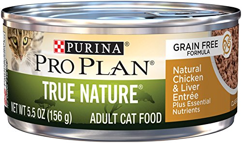 Seafood Stew - Purina Pro Plan Wet Cat Food, True Nature, Natural Chicken & Liver Entree, 5.5-Ounce Can, Pack of 24