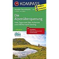 Die Alpenüberquerung, Vom Tegernsee über Achensee und Zillertal nach Sterzing: Wander-Tourenkarte. GPS-genau. 1:50000: Wandelkaart 1:50 000 (KOMPASS-Wander-Tourenkarten, Band 2556)
