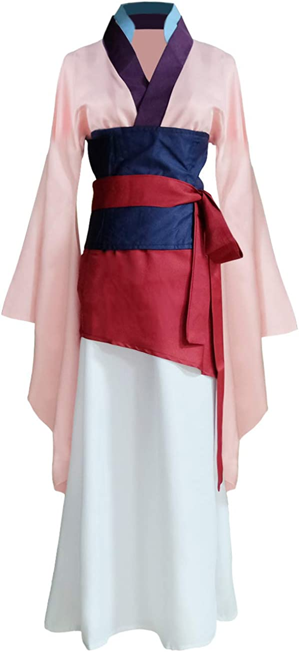 Womens Princess Mulan Costume Dress Chinese Heroine