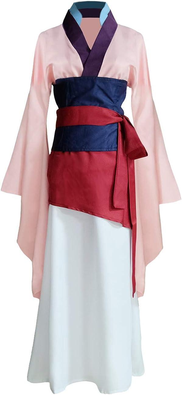 Womens Princess Mulan Costume Dress Chinese Heroine