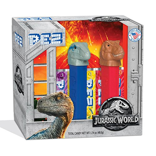 (PEZ Candy Twin Pack Jurassic World, 5.3 Ounce )