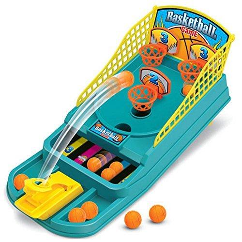 Basketball Shooting Game, UPmall Desktop Table Basketball Games Classic Arcade Games Basketball Hoop Set, Fun Sports Toy for Kids(Age 4+) Blue (Mini Basketball Game)