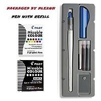 Juego de lápices de caligrafía de 2 colores Pilot Parallel con recambios de tinta negra y surtidos, punta de 6.0 mm (90053)