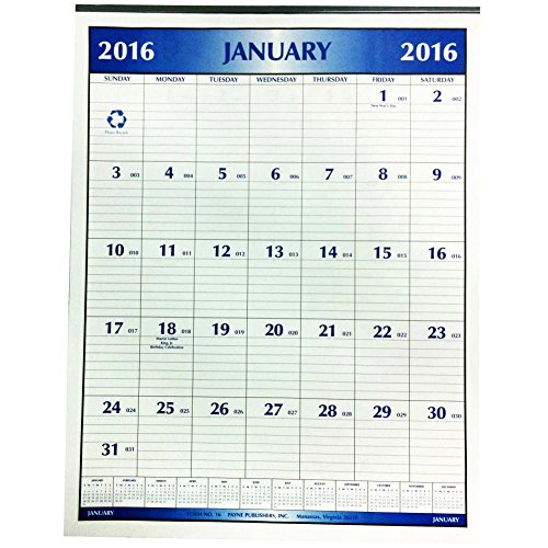Magnetic Office Calendar Payne Publishers product image
