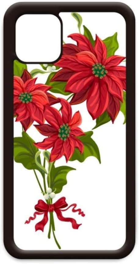 Christmas Flower Poinsettia Bouquet Red for iPhone 11 Pro Max Cover for Apple Mobile Case Shell