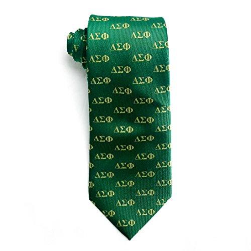 Sigma Phi Fraternity - Delta Sigma Phi Fraternity Necktie Tie Greek Formal Occasion Standard Length Width Hanky Pocket Square (Letter Necktie)