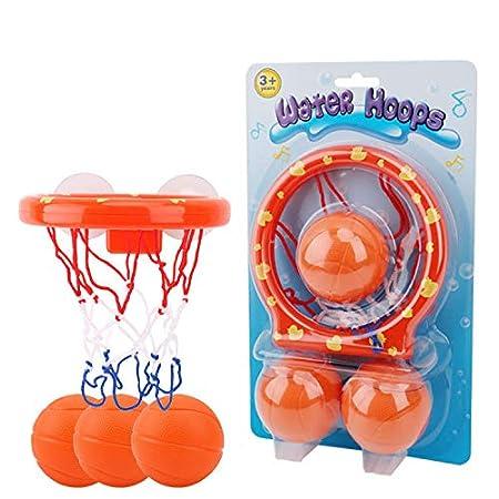 Basket-Ball Ruiuzi Cerceaux de Basket-Ball de Jouets de Bain pour Enfants et Tout-Petits avec 3 balles Jeu de tir de Baignoire pour Petits gar/çons et Filles