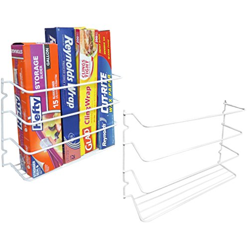 Side Mount Wall Cabinet (Evelots Set of 2 Wall/Door Mount Kitchen Wrap Organizer Rack Cabinet Space Saver)