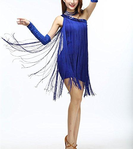 Modern Flapper Dress (Whitewed Modern 1920s 20s Inspired Flapper Style Clothing Dress for Women Blue)
