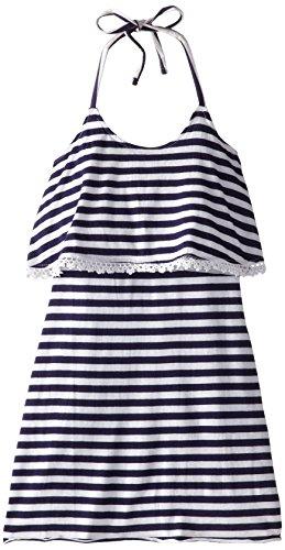 O'Neill Big Girls' Coral Striped Dress, Deep Blue, Medium