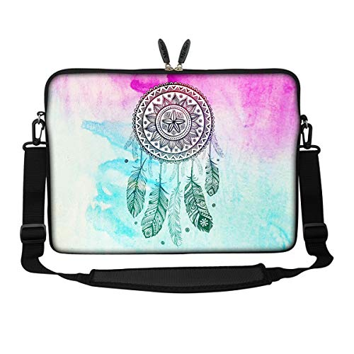 - Meffort Inc 15 15.6 inch Neoprene Laptop Sleeve Bag Carrying Case with Hidden Handle and Adjustable Shoulder Strap - Dream Catcher