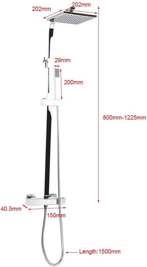 Sistema de Ducha termost/ático para Pared Columna de Ducha GOTOTOP