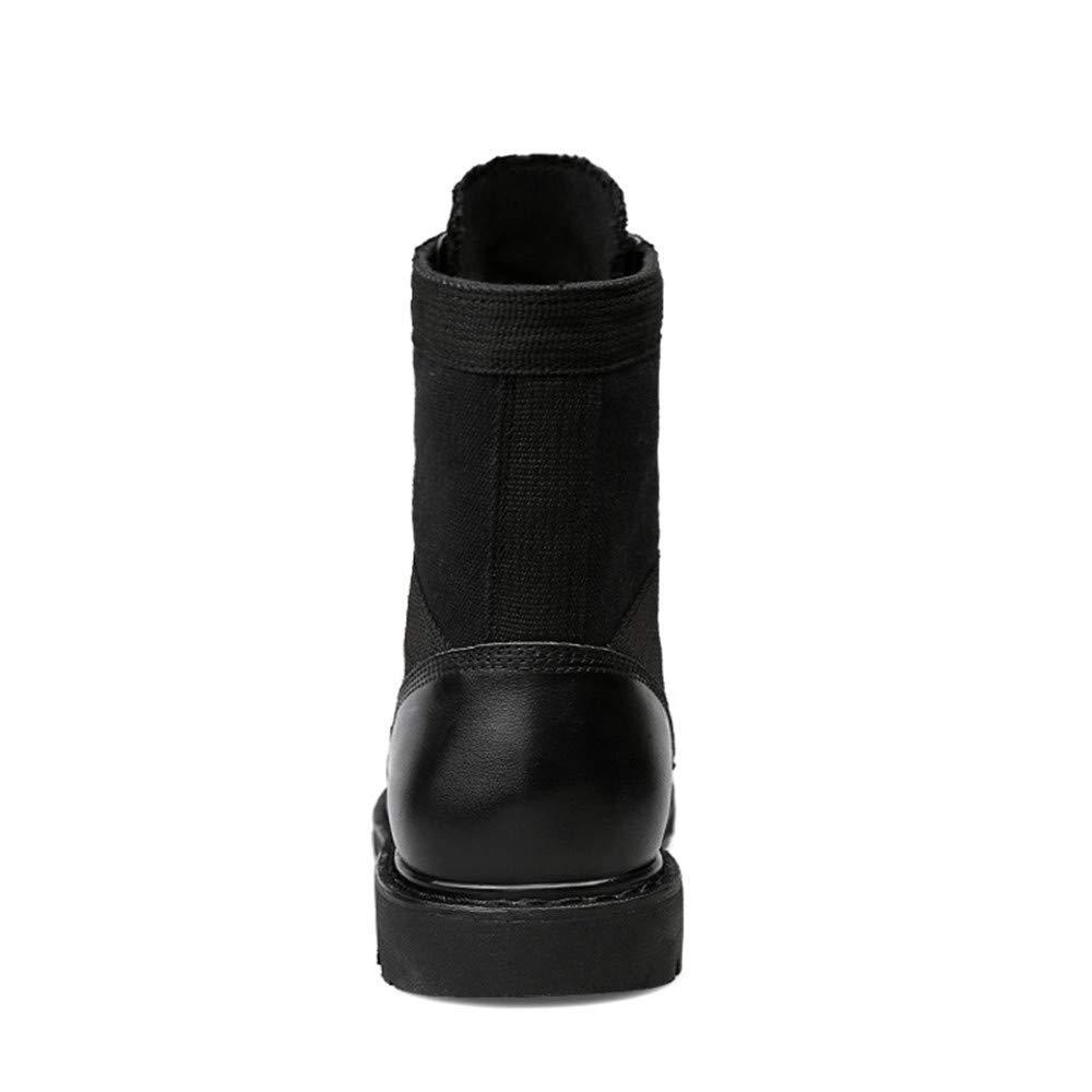 Oudan Herrenmode Stiefel Mitte-Kalb, Mitte-Kalb, Mitte-Kalb, lässig aus echtem Leder für große Martin Stiefel (warme Velvet optional) (Farbe   Schwarz, Größe   38 EU) (Farbe   Wie Gezeigt, Größe   Einheitsgröße) d77aaa