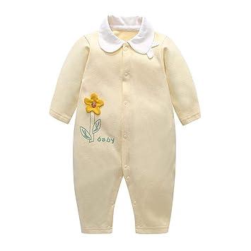 4b8e04133e6d5 Domybest ロンパース ベビー服 前開き 秋 冬 春 女の子 男の子 カバーオール 赤ちゃん 新生児 長袖 パジャマ 連体