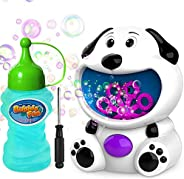 WisToyz Bubble Machine Dog Bubble Blower 500+ Bubbles Per Minute, Bubble Machine for Kids Toddlers Boys Girls