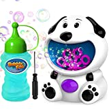 Toys : WisToyz Bubble Machine Dog Bubble Blower 500+ Bubbles Per Minute, Bubble Machine for Kids Toddlers Boys Girls Baby Bath Toys Indoor Outdoor Automatic Bubble Maker Easy to Use 2 AA Batteries Needed