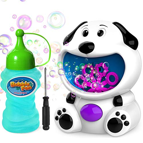 WisToyz Bubble Machine Dog Bubble Blower 500+ Bubbles Per Minute