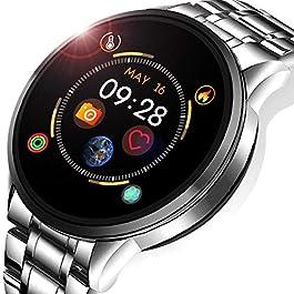 Smart Watch,Fitness Tracker with Blood Pressure Heart Rate Sleep Monitor Waterproof IP67 Activity Tacker Pedometer…