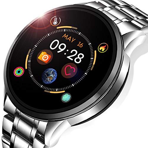 LIGE Fitness Tracker, Steel Smart Watch for Men Women Blood Pressure Heart Rate Sleep Monitor Pedometer Activity Tracker…