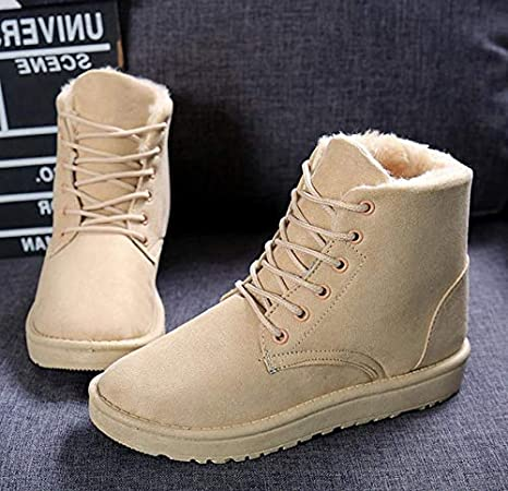 5a878f0f8c71 Image Unavailable. Image not available for. Color  GOP Store Women Boots  Winter Warm Snow Boots Women Botas ...