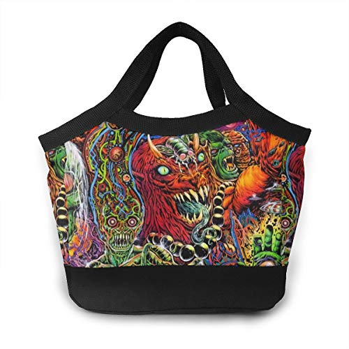 Halloween Mexican Colorful Skull Zombie Scary Makeup School Lunch Box Pail Insulated Pack Accessories Ice Cooler Containers Tote Reusable Shopping Bag Hot Food Bento Warmer Prep Set Kit Decorations]()