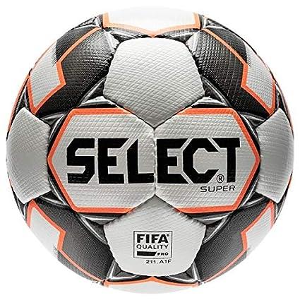 Select Super Balón de fútbol para Adulto, Unisex, Blanco/Gris, 5 ...
