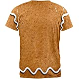 Gingerbread Man Costume All Over Adult T-Shirt - 2X-Large