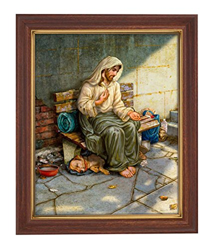 No Place to Rest Print - Jesus Homeless - in Woodtone Finish 10